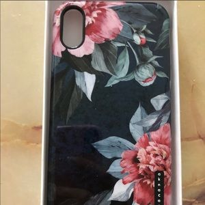 AKNA iPhone X case. BRAND NEW. Floral pattern.